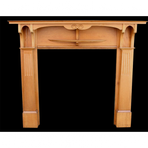 Edwardian Antique Fire Surround Arts & Crafts