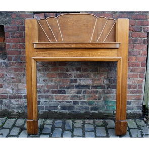 1920'S Fire Surround In Oak Art Deco