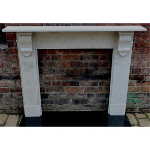 Late Victorian Fire Surround In Stone Derbyshire Stone