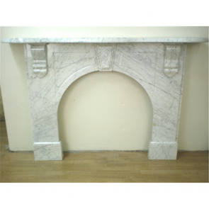 Victorian Fire Surround In Marble Carrera Marble