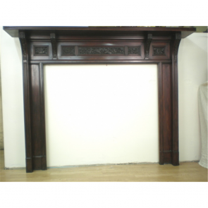Late Victorian Fire Surround In Mahogany