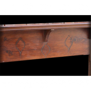 Original Edwardian Art Nouveau Antique Fire Surround