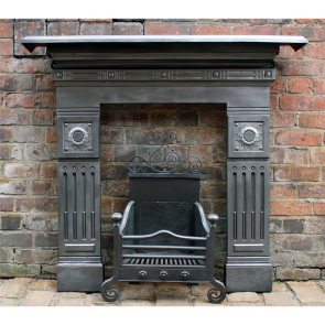 Late Victorian Small Cast Iron Fire Surround Small