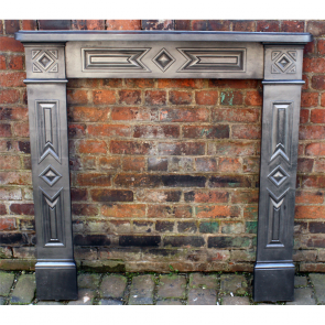Antique Original Victorian Range Cast Iron Fire Surround