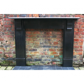 Antique Edwardian Slate Fire Surround
