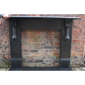 Antique Victorian Slate Fire Surround