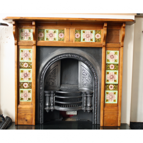 Victorian Tiled Pine Fire Surround