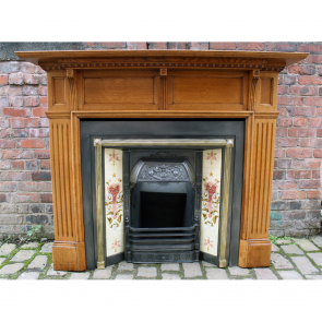 Victorian Solid Oak Fire Surround