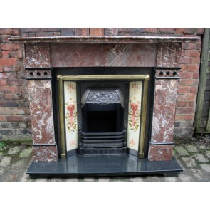 Victorian Rouge Marble Fire Surround