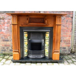 Reclaimed Late Victorian Oak Fire Surround