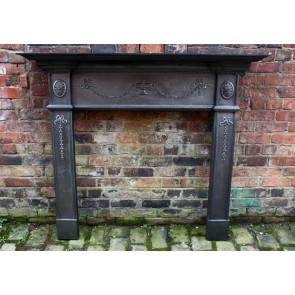 Antique Reclaimed Victorian Cast iron Fire Surround