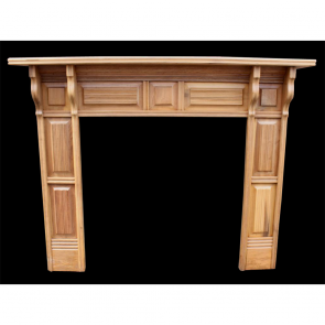 Late Victorian Fire Surround In Wood Arts & Crafts Wood Fire Surround