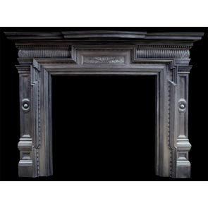 Large Antique Original Victorian Cast Iron Fire Surround