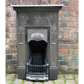 Art Nouveau Reclaimed Combination Bedroom Fireplace