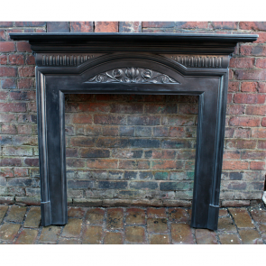 Edwardian Fire Surround In Cast Iron Art Nouveau