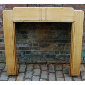 1930'S Fire Surround In Oak Art Deco 1930S Oak Fire Surround