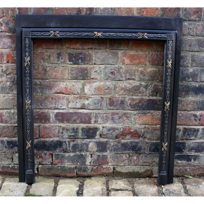 Antique Reclaimed Cast Iron And Brass Frame