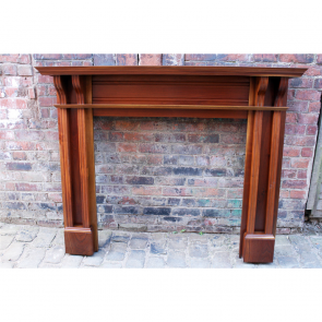 Antique Reclaimed Walnut Edwardian Fire Surround