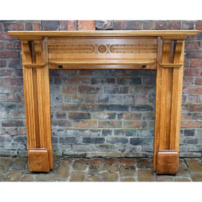 Original Edwardian Arts & Crafts Oak Mantel