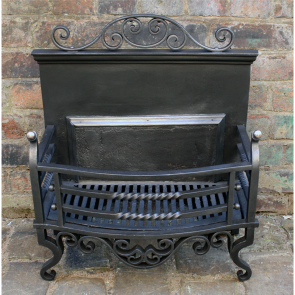 Cast And Wrought Iron Arts And Crafts Fire Basket