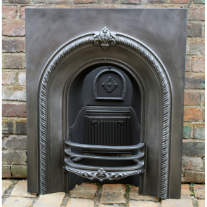 Victorian Arched Cast Iron Fire Grate