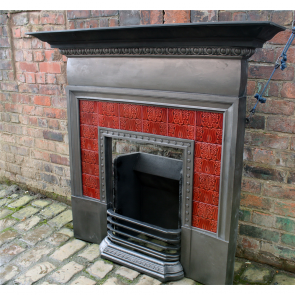 Antique Coalbrookdale Cast Iron Combination Fireplace