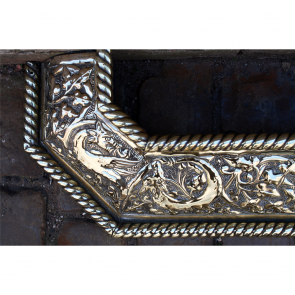 Victorian Fire Fender In Brass