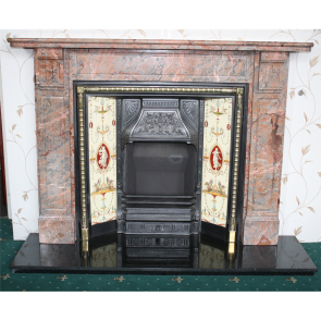 Ashburton Marble Chimney Piece Late Victorian Ashburton Marble