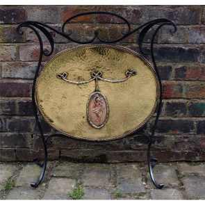 Brass And Wrought Iron Fire Screen