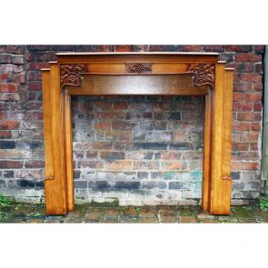1930'S Original Reclaimed Arts & Crafts Oak Fire Surround
