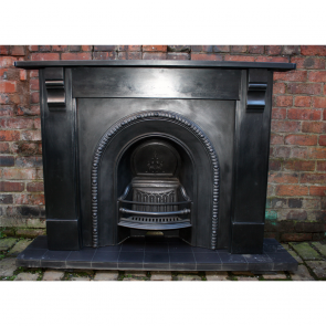 Antique Original Slate Corbel Fire Surround