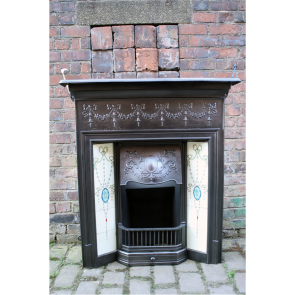 Original Tiled Combination Fireplace