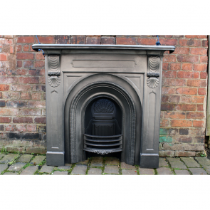 Victorian Original Reclaimed Cast Iron Fire Surround