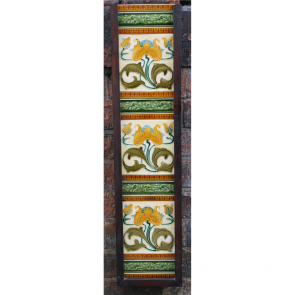 Art Nouveau Ceramic Tile Panels