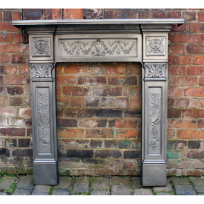 Late Victorian Original Reclaimed Cast Iron Fire Surround