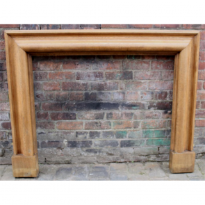 Edwardian Fire Surround In Oak Bolection