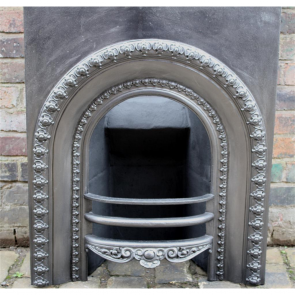 Original Cast Iron Victorian Arched Grate