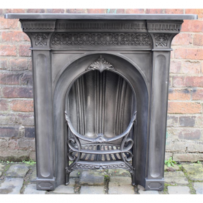 Early Victorian Combination Grate In Cast Iron