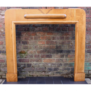 1920'S Oak Art Deco Reclaimed Fire Surround
