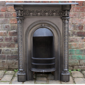 Victorian Reclaimed Cast Iron Combination Fireplace