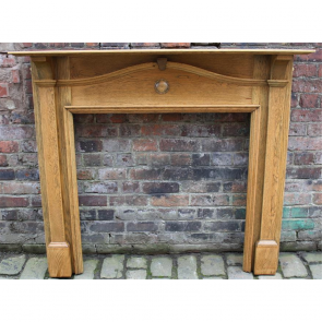 Edwardian Fire Surround In Oak