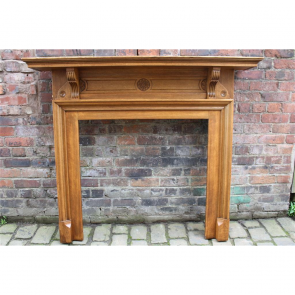 Late Victorian Fire Surround In Oak Late Victorian/Early Edwardian