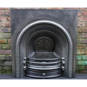 Late Victorian Arched Grate In Cast Iron