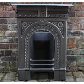 Victorian Combination Grate In Cast Iron Bedroom Fireplace