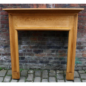 Edwardian Fire Surround In Oak Oak Fire Surround - Wood