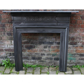 Victorian Fire Surround In Cast Iron Small Cast Iron Fire Surround