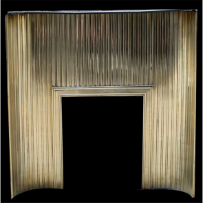 Edwardian Panel In Brass Reeded