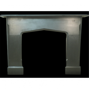 Antique Goth Style Fireplace Surround In Slate