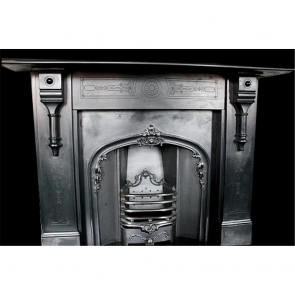 Antique Victorian Restored Slate Corbel Fire Surround