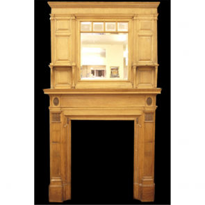 Late Georgian Fire Surround In Wood Pine Fire Surround - Wood